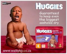 EFF's Malema wearing his nappies - no wonder they need a red overall to hide the truth!