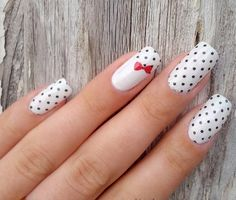 Polka Dot with Red Bow Accent