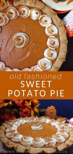 This southern sweet potato pie is perfect for fall weather. The texture is rich and creamy. It's the perfect addition to Thanksgiving dessert. Check o Köstliche Desserts, Delicious Desserts, Dessert Recipes, Pie Recipes, Fall Recipes, Holiday Recipes, Sweet Potato Recipes, Homemade Sweet Potatoe Pie Recipe, Southern Sweet Potato Pie
