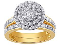 Enjoy exceptional value and unbeatable prices. Explore this Pre-Owned White Diamond Yellow Gold Bridal Set from JTV today. Diamond Rings For Sale, Broken Chain, Types Of Rings, Diamond Gemstone, Bridal Sets, Gold Material, Yellow Gold Rings, Wedding Rings, Engagement Rings