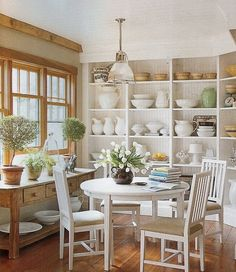 great storage around table