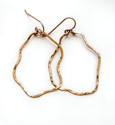 Yung Spud Hoop Earrings  Organically Shaped Small Wavy Gold
