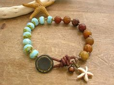 Knotted bracelet  Seashore  Bohemian jewelry by 3DivasStudio, $38.00