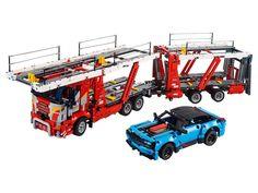 Car Transporter 42098 | Technic™ | Buy online at the Official LEGO® Shop CA Corvette Zr1, Chevrolet Corvette, Biggest Lego Set Ever, Big Lego Sets, Lego Technic Truck, Lego Builder, Lego System, Lego Store, Trailer Build
