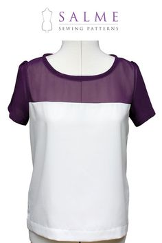 Digital Sewing Pattern - Color Block T-shirt