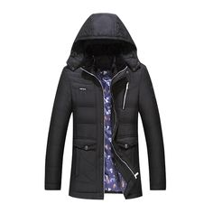 43.61$  Watch more here  - Free shipping large size 4XL mens quality cotton hood mens jacket male's winter parkas slim casual male's cotton coat size L-4XL