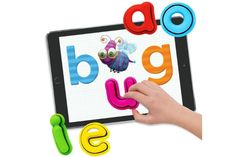 Tiggly Words interactive learning toy for kids blends the best of iPad apps with real toys, letters and shapes.