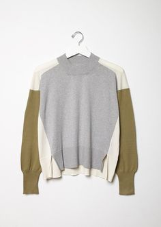 Colorblock Cotton Sweater