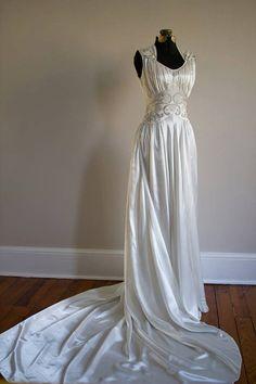NEW 1930's Art Deco Wedding Gown Size M/L by VivianEliseVintage, $629.00