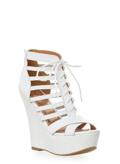 Rainbow Lace Up Cutout Wedge Platform Heels Rainbow Laces, Rainbow Shop, Lace Up Wedges, Cape Dress, Shoe Collection, Cute Shoes, Wedge Heels, Tuesday, Platform