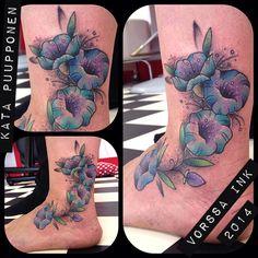 https://www.facebook.com/VorssaInk/, http://tattoosbykata.blogspot.com, #tattoo #tatuointi #katapuupponen#vorssaink #forssa #finland #traditionaltattoo #suomi #oldschool #pinup #flower