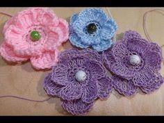 crochet roses for beginners Learn To Crochet, Easy Crochet, Crochet Lace, Crochet Roses, Cold Porcelain Tutorial, Knitted Flowers, Irish Crochet, Floral Motif, Paper Flowers