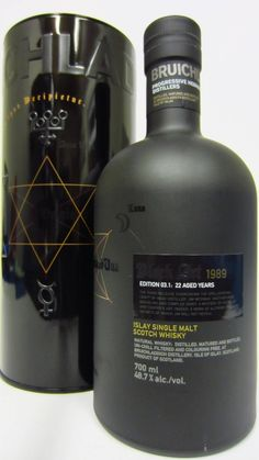 Bruichladdich Scotch Single Malt Black Art 3 22 Year – Simply One Of The World's Finest Good Whiskey, Whiskey Drinks, Cigars And Whiskey, Scotch Whiskey, Bourbon Whiskey, Alcohol Bottles, Liquor Bottles, Best Alcohol, Rum Bottle