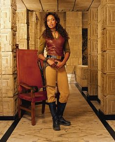 Gina Torres as ZOE. Firefly
