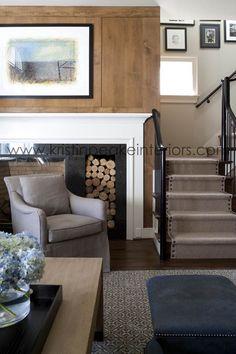 Designed by Kristin Peake Interiors.  Love the detail on the carpet runner.