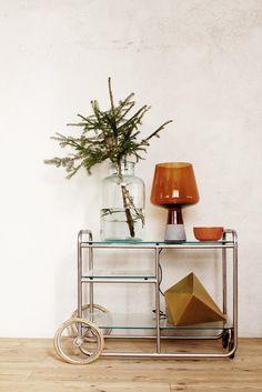 Autumn deco prints - Home Design & Interior Ideas Inspiration Design, Interior Inspiration, Gold Bar Cart, Copper Bar, Christmas Decorations, Holiday Decor, Christmas Tree, Christmas Inspiration, Interior And Exterior