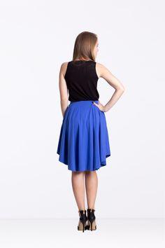 Spódnica z zakładkami borówka - Ynlow-Designed - Spódnice z koła Ballet Skirt, Skirts, Etsy, Fashion, Moda, Tutu, Fashion Styles, Skirt