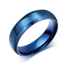 Meaeguet Simple Ring Stainless Steel Rings For Men Women Finger Jewelry Classic Wedding Engagement Wedding Bands(China (Mainland))