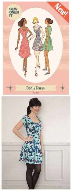 Sew Over It Doris Dress Downloadable Pattern Doris Dress