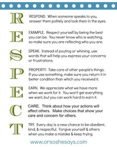 Night ~ Teach Them Some Respect! This is such a great Family Home Evening lesson and activity on RESPECT!This is such a great Family Home Evening lesson and activity on RESPECT! Family Rules, Home And Family, Family Guy, Parenting Advice, Kids And Parenting, Natural Parenting, Parenting Classes, Parenting Styles, Foster Parenting