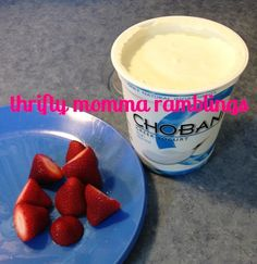 Strawberries & Greek Yogurt Makes a Healthy Snack for Picky Eaters