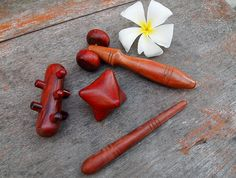 Thai Wooden Hand Massage Tools
