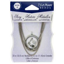 Blue Moon Beads Story Lockets Box Chain & Extender