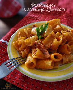 Pasta Speck e scamorza affumicata http://blog.giallozafferano.it/graficareincucina/pasta-speck-e-scamorza-affumicata/