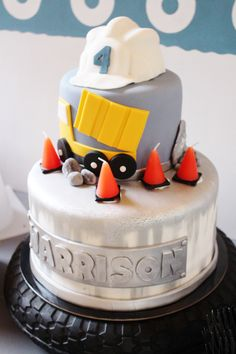 how to make a dump truck birthday cake