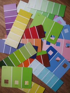 After we created our Colour Mixing Rainbow , there were lots of paint sample sheets left over, so thought the children might like to mak...
