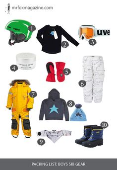 Packing List  Ski. Hit the slopes in style with this edit of the best ski  gear for boys. 11d084ef2
