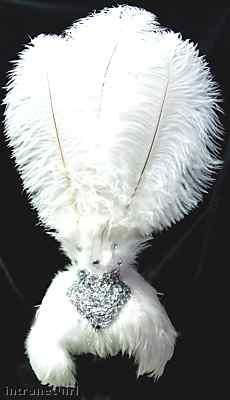 White LAS VEGAS SHOWGIRL HEADDRESS Burlesque