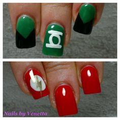 Green Lantern & The Flash Nails
