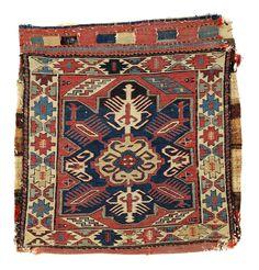 Shahsavan Sumakh Bag - North West Persia, Khamseh region, 19th century, 54 x 49 cm