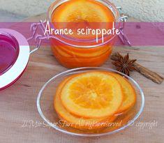 Arance sciroppate da conservare: dolcissime,golose e profumate.Realizzarle è semplicissimo,occorrono delle belle arance Navel succose e dorate e lo zucchero