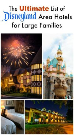 Traveling to Disneyland with a large family? This list of hotels near the park that can accommodate large families with or even 8 guests per room/suite is for you! Disney Resorts, Disney Vacations, Disney Trips, Vacation Trips, Disney Travel, Walt Disney, Disney 2017, Orlando Vacation, Vacation Ideas