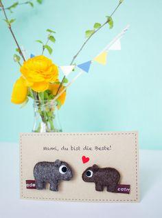 Accessoires - ♥ (Wombat)Mamas sind die Besten! ♥ - ein Designerstück von Catmade bei DaWanda