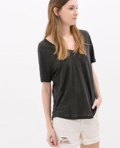 ZARA - 여성 - 리넨 티셔츠