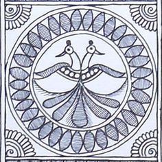Shop Black And White Madhubani Painting Featuring Peacocks And Other Fauna by Kalakruti online. Largest collection of Latest Wall Art and Paintings online. Madhubani Paintings Peacock, Kalamkari Painting, Madhubani Art, Pichwai Paintings, Indian Art Paintings, Phad Painting, Hand Painted Fabric, Painted Bags, Indian Arts And Crafts