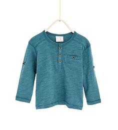Camiseta cuello panadero-ÚLTIMA SEMANA-BEBE NIÑO   3 meses-4 años-NIÑOS   ZARA España