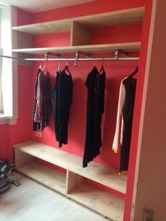 Armario de madera A Healthy Approach To Stress Article Body: Different people get bothered for diffe Diy Closet Shelves, Closet Organization, Closet Space, Walk In Closet, Diy Bett, Closet Layout, Master Bedroom Closet, Closet System, Closet Designs