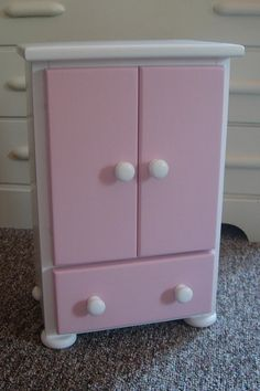 Details About Doll Wardrobe American Made Fits 18 Furniture Storage Closet Armoire Dolls Wardrobes And Hand Painted