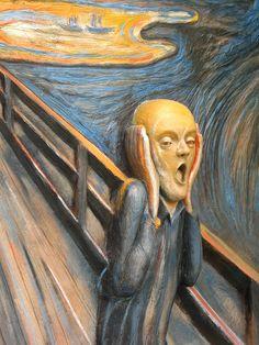the scream edvard munch | Sculpture after Edvard Munch's The Scream | Flickr - Photo Sharing!