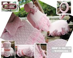 My dream seat covers. I have a seat cover pattern and never thought about making my car Shabby Chic too! I love it!
