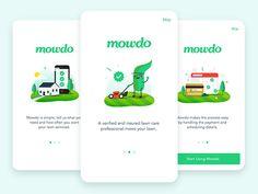 Mowdo Welcome Screens