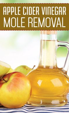 how to get rid of moles with apple cider vinegar
