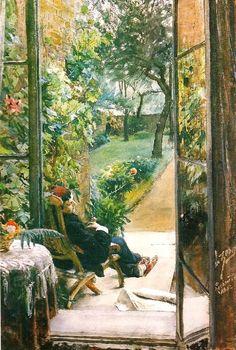 catonhottinroof:  Anders Zorn (1860-1920)I vardinnans tradgard, 1882
