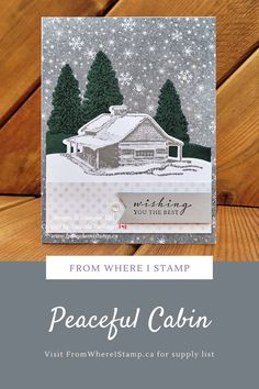 Fox Images, Tree Images, Wish You The Best, Peaceful Places, Starter Kit, Scrapbook Pages, Stampin Up, Christmas Cards, Cabin