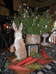 primitive spring decorating