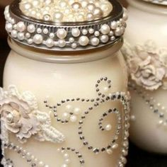 craft ideas from jars | DIY Mason Jar Christmas Craft Ideas- Queen of Pearls ... | Holiday Cr ...